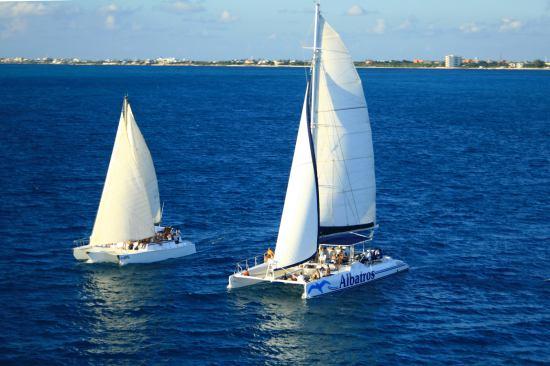 Isla Mujeres in Catamaran from Playa del Carmen