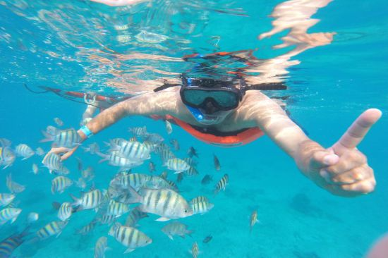 Tour Isla Cozumel: Snorkel Glass Bottom Boat 2 Hours