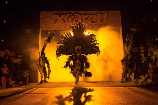 Xcaret Plus Night Show from Playa del Carmen
