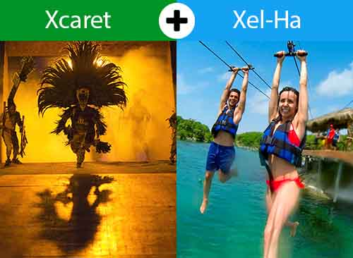Xcaret Plus + Xel-ha From Cancun