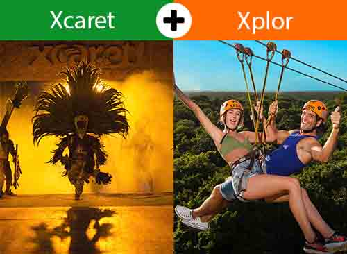 Xcaret Plus + Xplor  2 days -2 tours