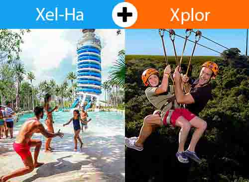 Xelha + Xplor 2 days - 2 Tours