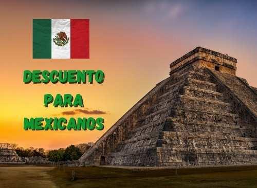 Chichen Itzá Económico, precio para Mexicanos, impuesto incluido