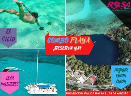 Combo Playa: Isla Mujeres + Laguna Kaam Luum + Snorkel El Cielo