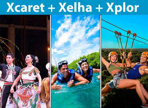 Promoción Mexicanos Xcaret Plus + Xel Há + Xplor