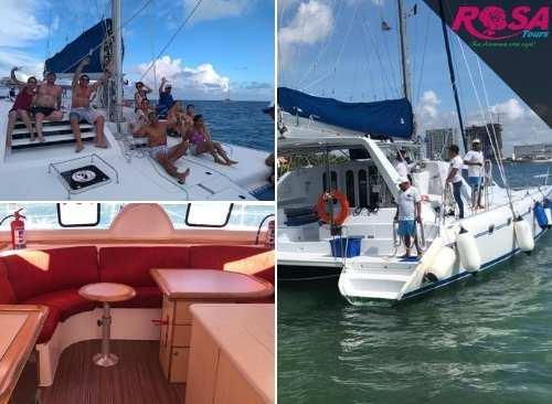Isla Mujeres en Catamarán Plus