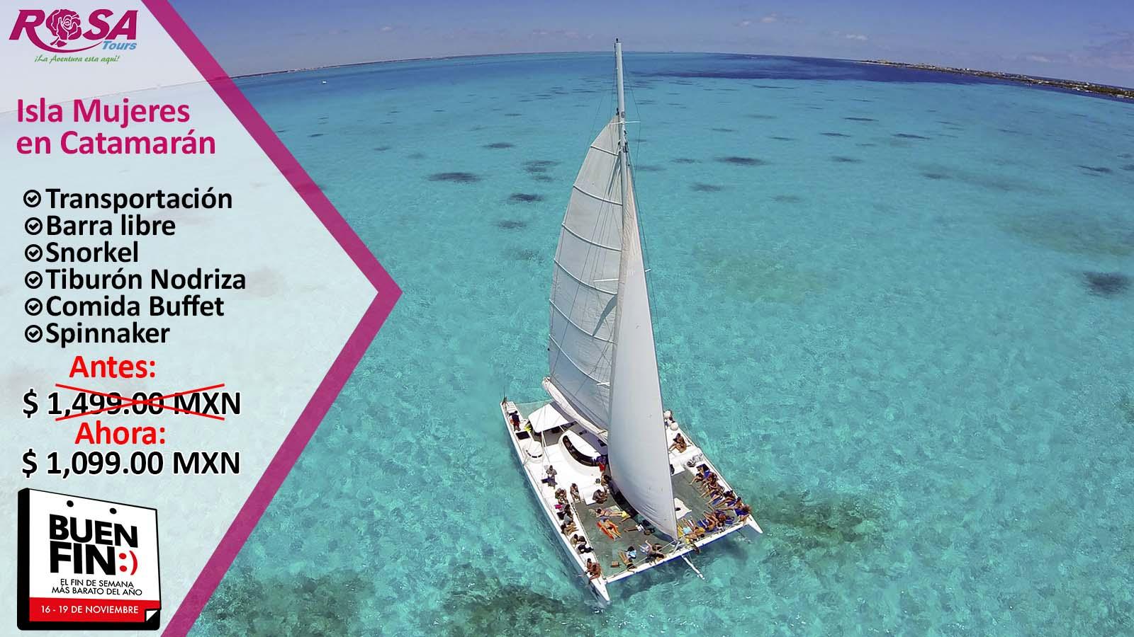 Isla Mujeres en Catamarán desde Playa del Carmen y Riviera maya&IN