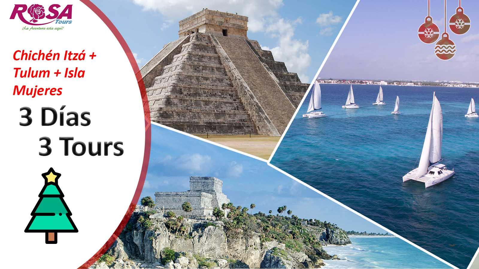 Chichen Itza + Tulum + Isla Mujeres / 3 Días - 3 Tours&IN