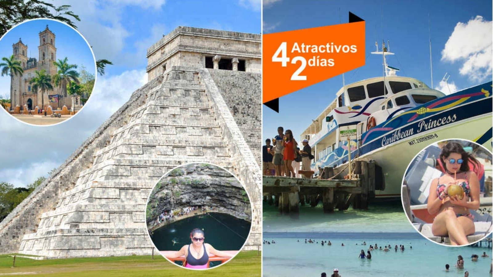Chichen Itza tour + Isla Mujeres / 2 Dias - 2 Tours
