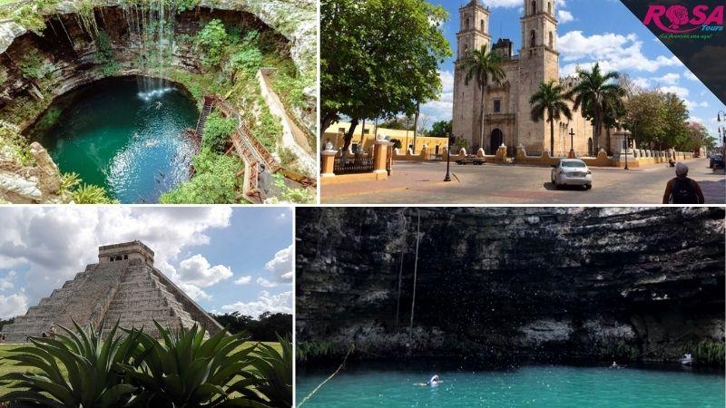 Chichen Itzá, Cenote Xcajum / Saamal y Valladolid