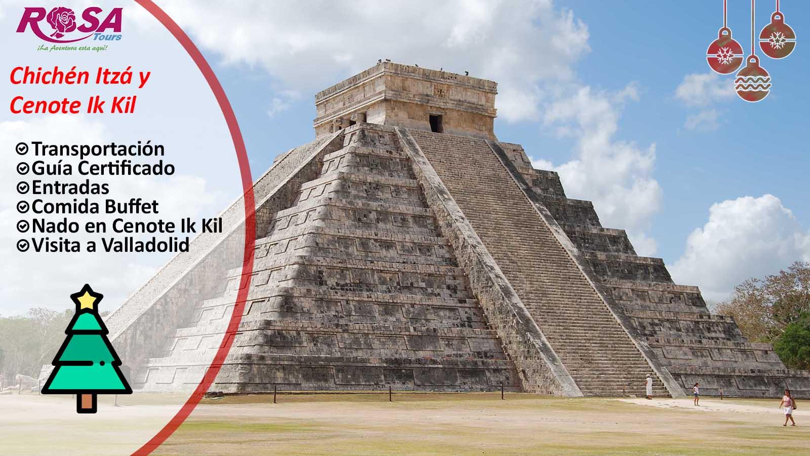Chichen Itzá Tour con cenote Ik Kil desde Playa del Carmen&IN