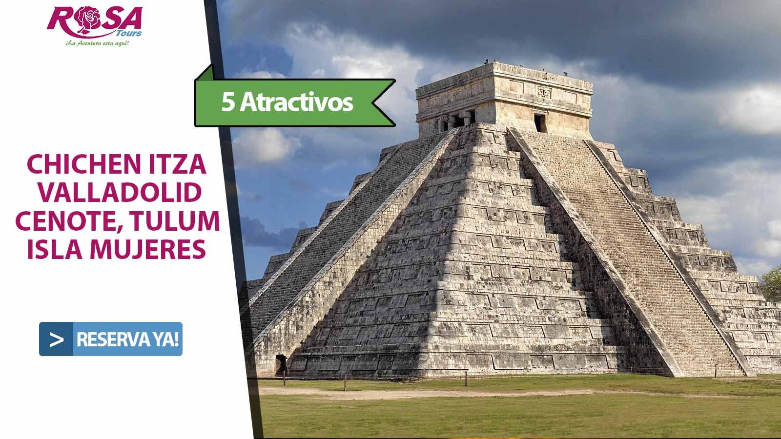 Chichen Itza + Tulum + Isla Mujeres  Basico / 3 Dias - 3 Tours