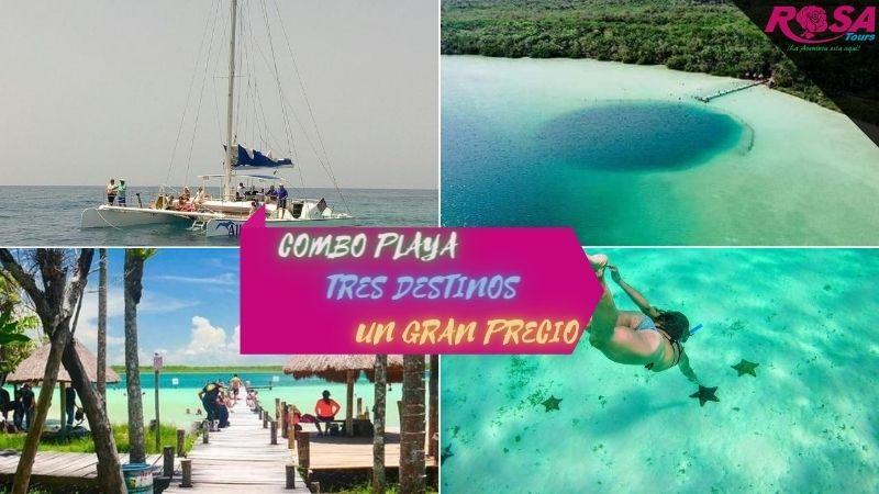 Combo Combo Playa: Isla Mujeres + Laguna Kaam Luum + Snorkel El Cielo