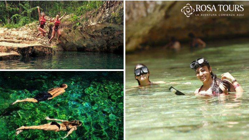 Tour Cenotes Casa Tortuga Plus con Tirolesa