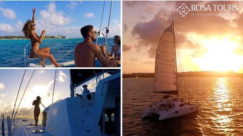 Tour Isla Mujeres en Catamarán Plus