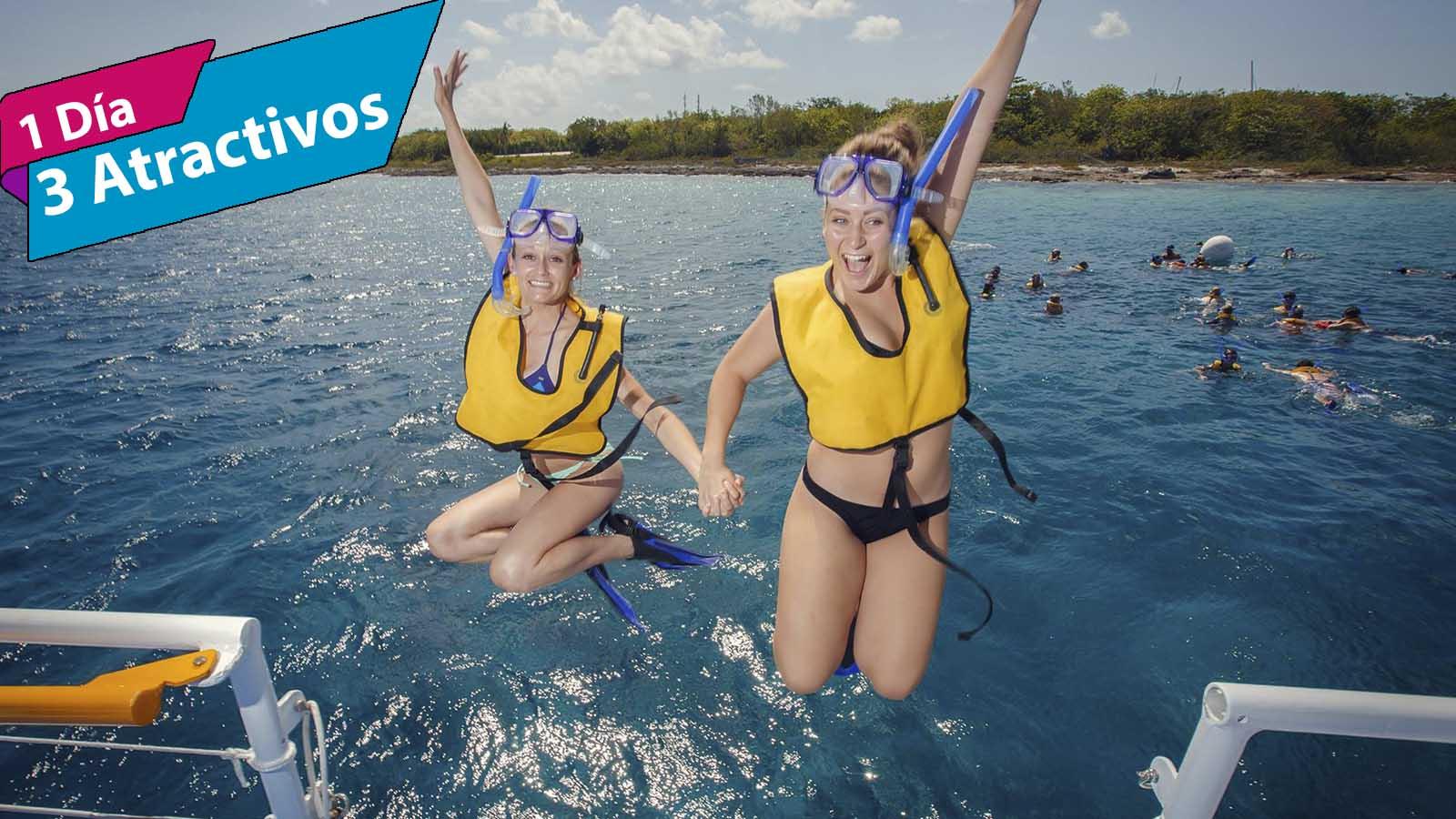 Tour Cozumel El Cielo en Catamarán con barra libre