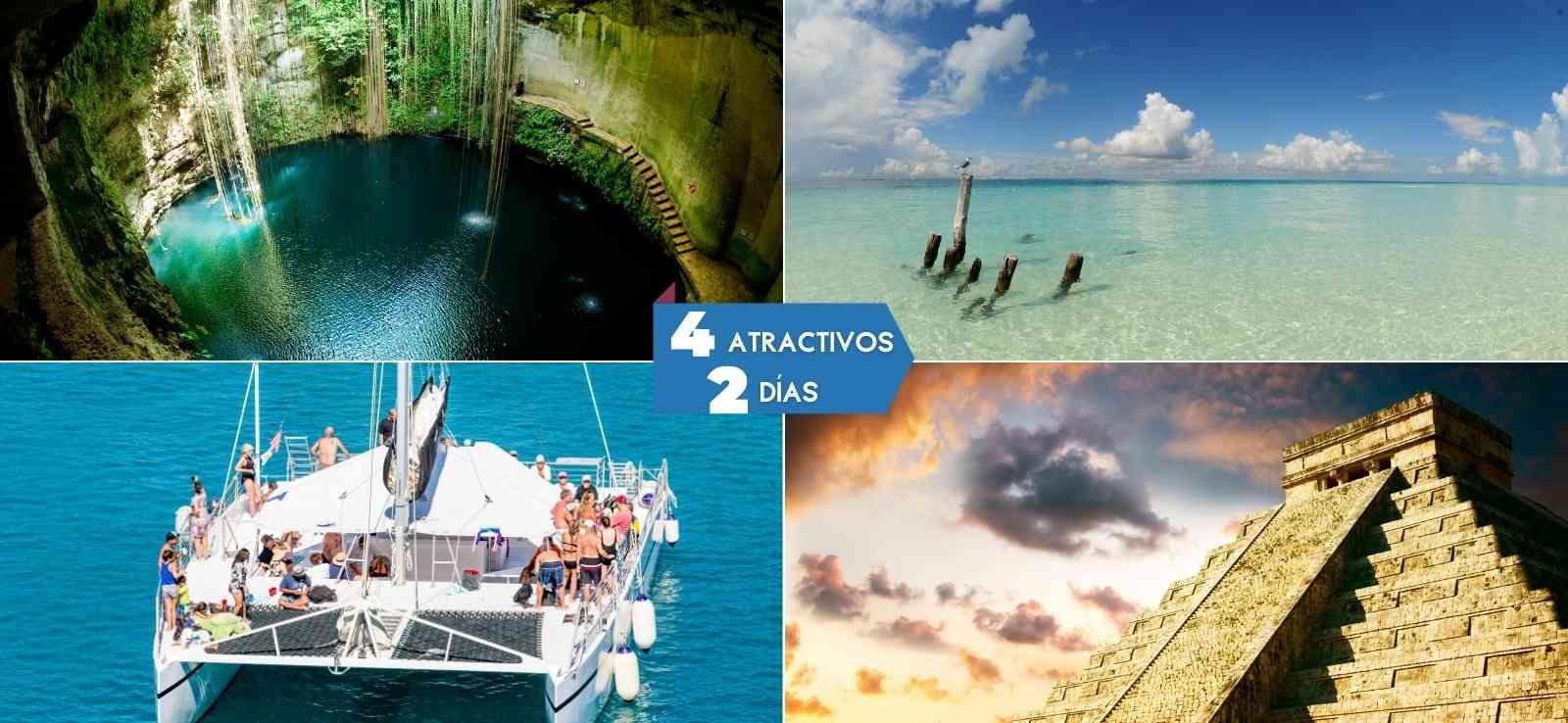 Combos Chichen Itzá tour + Isla Mujeres / 2 Días - 2 Tours