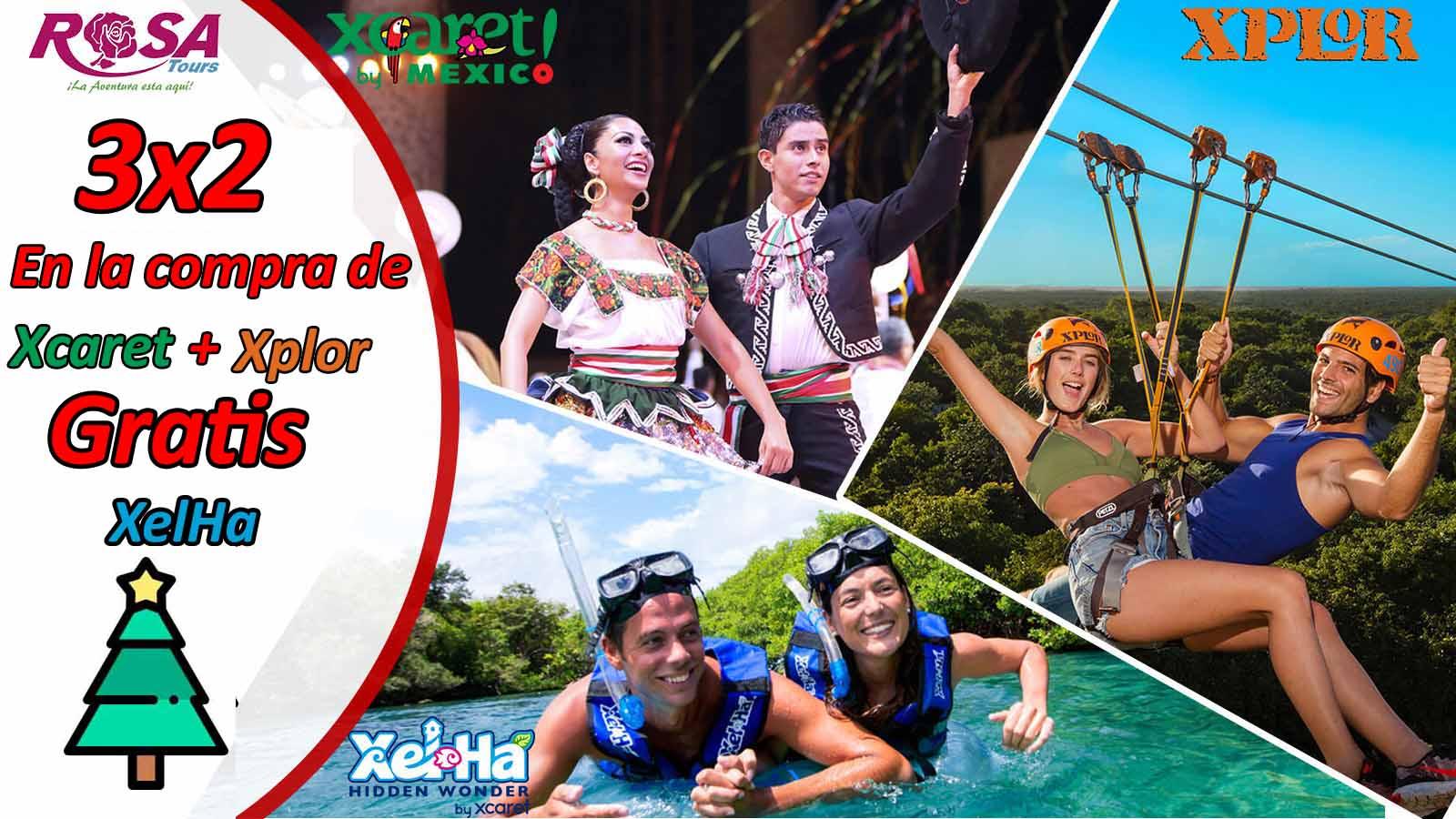 Promoción Navideña Xcaret Plus + Xel Há + Xplor&IN