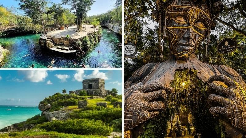 Tour Tulum   4 Cenotes   Estatua Madre Naturaleza