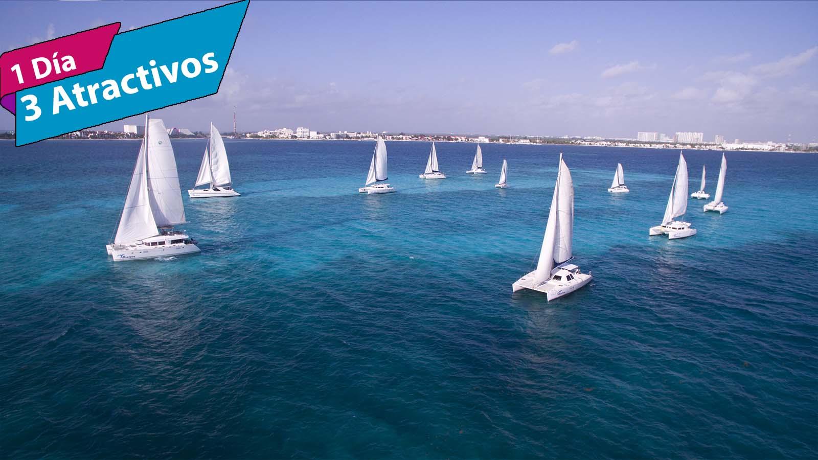 Tour Isla Mujeres en Catamarán sin transportación